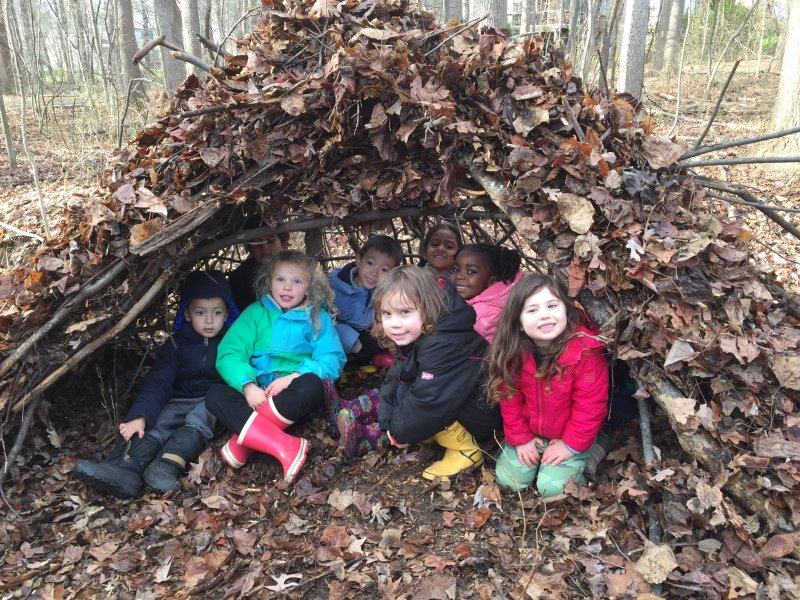 Students Inside Their Wigwam